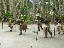 Bailarines nativos en Vanuatu Foto de archivo libre de regalías