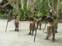Bailarines nativos en Vanuatu Imagen de archivo libre de regalías