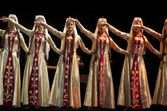 Bailarines pedagógicos de la universidad del estado armenio Fotos de archivo libres de regalías