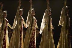 Bailarines pedagógicos del conjunto de la danza de la universidad del estado armenio Fotografía de archivo