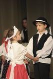 Bailarines populares húngaros Imagen de archivo libre de regalías
