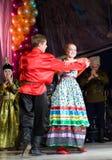 Bailarines populares rusos Fotografía de archivo