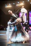 Bailarines que bailan danza estándar Imagenes de archivo