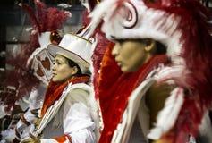 Bailarines que se realizan en el carnaval el Brasil Imagen de archivo libre de regalías