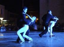 Bailarines románticos imagen de archivo