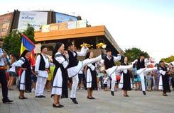 Bailarines rumanos Foto de archivo libre de regalías