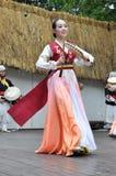 Bailarines, sociedad para la educación coreana de la danza fotografía de archivo libre de regalías