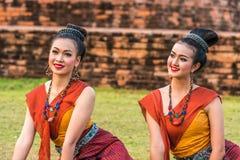 Bailarines tradicionales del noreste tailandeses Foto de archivo