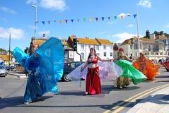 Bailarines tribales de Iceni, Hastings imagen de archivo