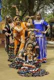 Bailarines tribales de sexo femenino Imagen de archivo libre de regalías