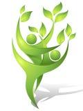 Bailarines verdes Foto de archivo libre de regalías