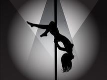 Bailarín de poste Fotografía de archivo libre de regalías