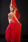 Bailarín de vientre. Imagen de archivo