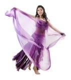 Bailarín de vientre asiático Imágenes de archivo libres de regalías