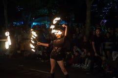 Bailarín del fuego Foto de archivo libre de regalías