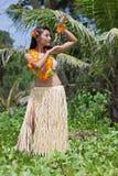 Bailarín del hula de Hawaii Fotografía de archivo libre de regalías