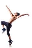 Bailarín desnudo aislado Imágenes de archivo libres de regalías