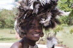 Bailarín indígena en África Imagen de archivo libre de regalías