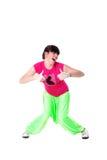 Bailarín moderno de la mujer del salto de la cadera Imagen de archivo