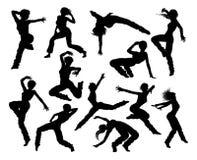 Bailarín Silhouettes de la danza de la calle Fotografía de archivo