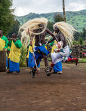 Bailarín tribal Rwanda Imagenes de archivo