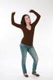 Baile adolescente del modelo de la muchacha Foto de archivo