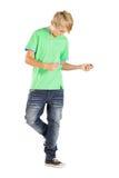 Baile adolescente del muchacho Fotos de archivo libres de regalías