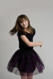 Baile adorable de la muchacha Fotografía de archivo