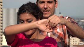 Baile aficionado de los pares almacen de metraje de vídeo