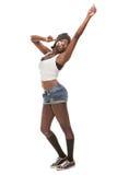 Baile africano joven hip-hop de la mujer Fotografía de archivo libre de regalías