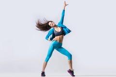 Baile alegre de la muchacha Fotografía de archivo libre de regalías
