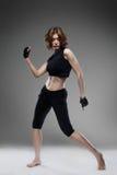 Baile atractivo de la mujer Imagen de archivo libre de regalías