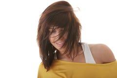 Baile atractivo de la mujer aislado Fotos de archivo libres de regalías