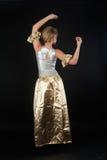 Baile bonito de la muchacha Fotografía de archivo libre de regalías