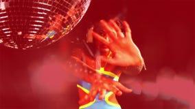 Baile bonito de la mujer almacen de metraje de vídeo