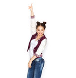 Baile bonito sonriente feliz del adolescente Foto de archivo