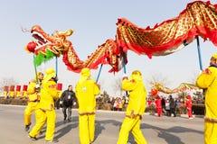Baile chino del dragón Foto de archivo libre de regalías