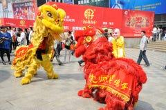 Baile chino del león Imagen de archivo
