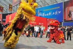 Baile chino del león Fotos de archivo libres de regalías
