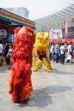 Baile chino del león Imagen de archivo libre de regalías