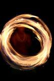 Baile circular del fuego   Fotografía de archivo