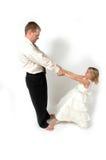 Baile con el papá imágenes de archivo libres de regalías