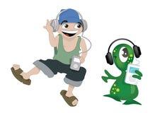 Baile con iPod Libre Illustration