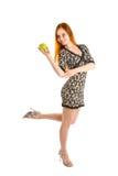 Baile con la manzana foto de archivo libre de regalías