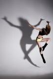 Baile con la sombra Fotos de archivo