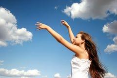 Baile con las nubes fotografía de archivo