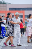 Baile cuadrado colectivo en Pekín, China Fotografía de archivo