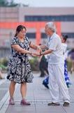 Baile cuadrado colectivo en Pekín, China Imagenes de archivo