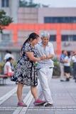 Baile cuadrado colectivo en Pekín, China Foto de archivo libre de regalías