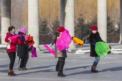 Baile cuadrado en China de nordeste Foto de archivo libre de regalías